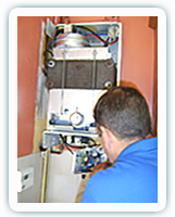 Image of me servicing a boiler mate boiler